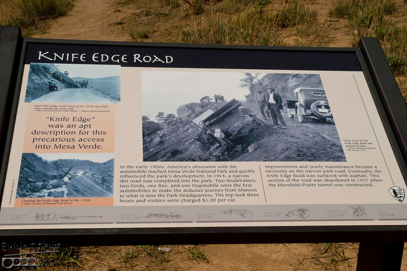 Information on the knife edge road.
