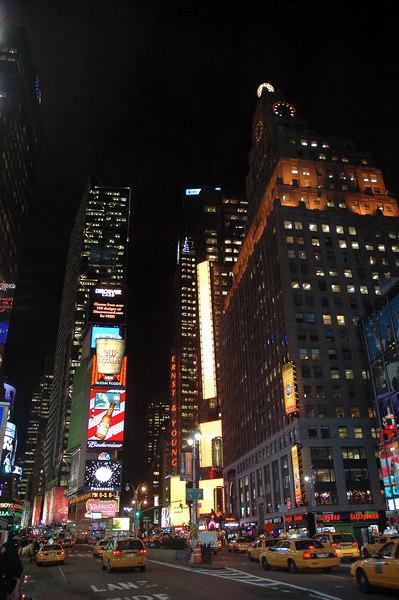 時代廣場的夜晚比白天更美