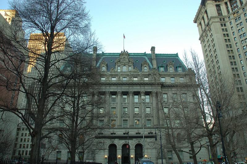 New York City Hall旁的Civic Center