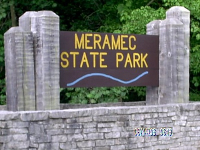 Meremec entrance sign was easy to see.
