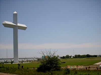 During our trip we have seen several of these giant crosses in other parts of the county.