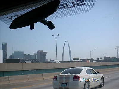 I-44<br /> We could see the St. Louis Arch from the freeway.