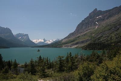 Glacier National Park. St Mary Lake