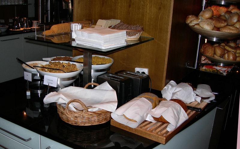 910 Breakfast in Helsingborg immortalized by Tom: the best continental breakfast of the trip.