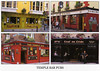 Outside views of typical pubs in Temple Bar area