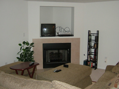 Fireplace and Place For TV