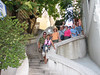 Our walking tour of the city included a group shot on this unusual staircase leading down one of the hills of the city.