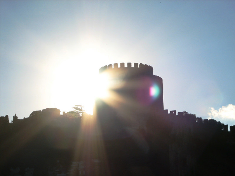 I was rushing to snap this photo while the fortress tower had the sun behind it.  I was a second too late, but I decided that I liked the effect.