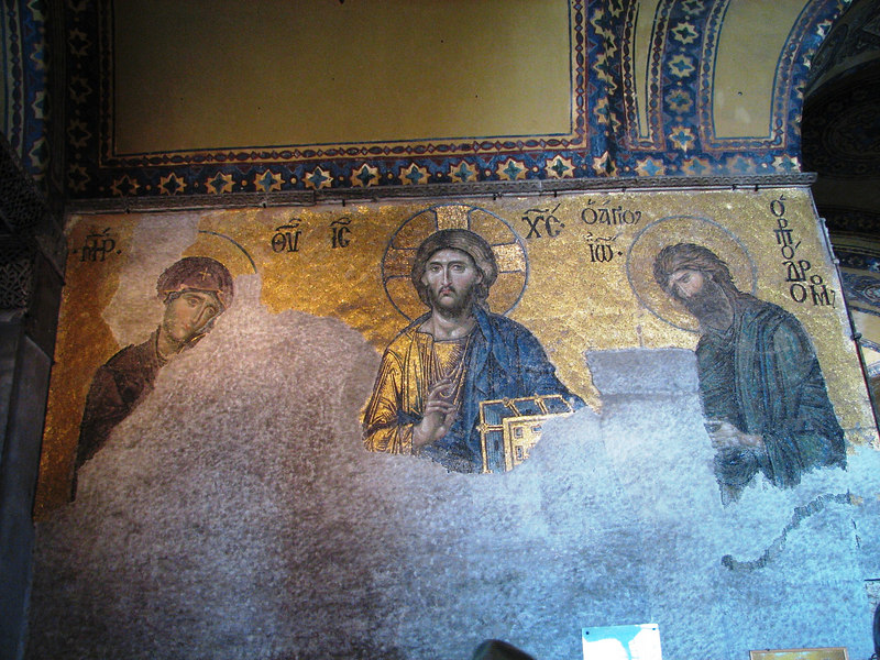 In recent years plaster is being removed to reveal amazing mosaics from 1500 years ago.