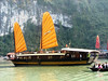 The various junks and boats add color and character to Halong Bay.
