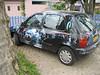 Weirdly decorated car.