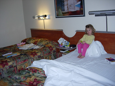 Kelly in Barstow motel room-the first night