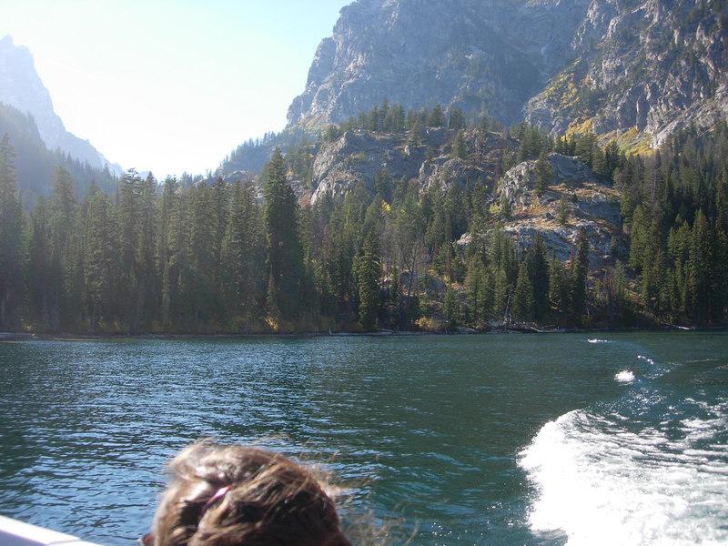 Boat on Jenny LakeGrand Teton National Park