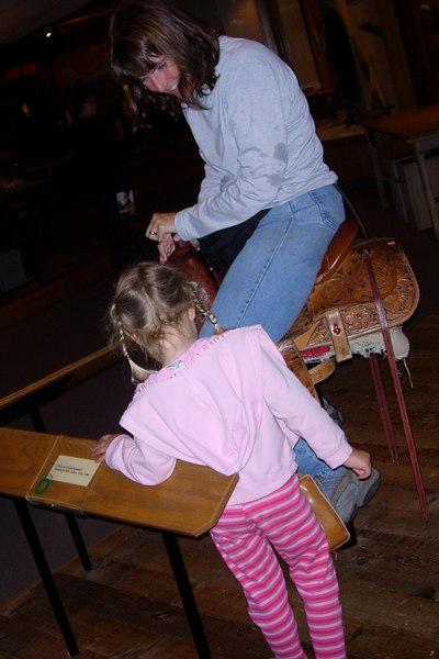 Patty on saddleBuffalo Bill MuseumCody, Wy