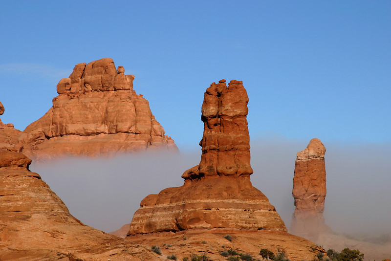 Fog in Arches NP,  UT