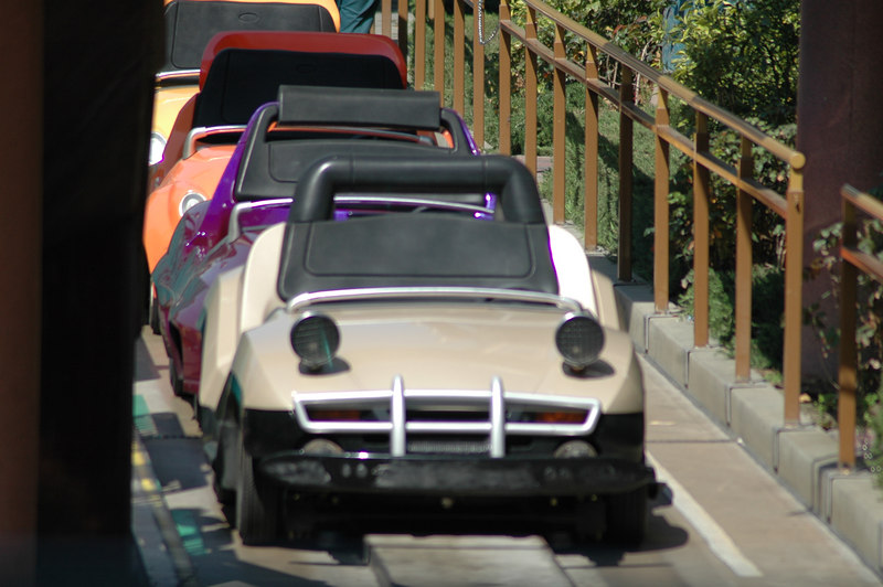 We never made it to Autopia...the line was too long all day.