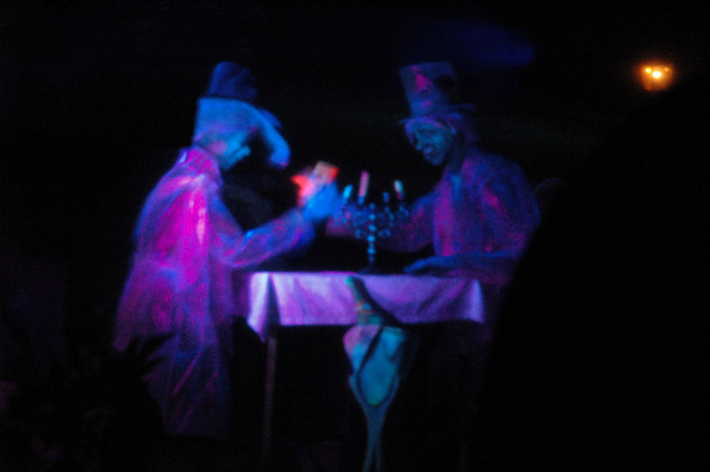 Inside the haunted mansion.
