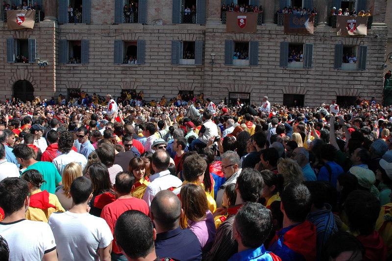 In the main square in Gubbio