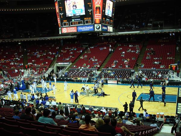 Warm up for the Orlando Magic vs Memphis Grizzlies NBA game