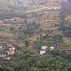 Yangtze River hill side - Note the terraced fields