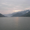 Entering first of three gorges - Sunrise