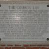 Plaque commemorating establishment of Common Law