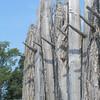 Protective wall around Jamestown settlement