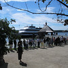 Waiting for free Potomac Riverboat cruise