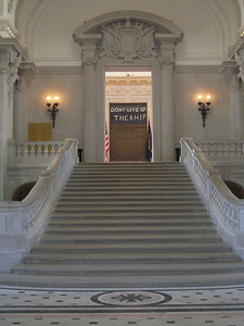 Stairwell to Memorial Hall within Bancroft Hall