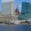 Baltimore sky line from Inner Harbor