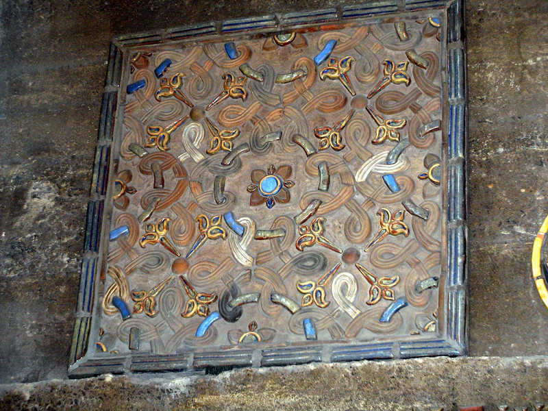 Ceramic tile in Moravian Pottery