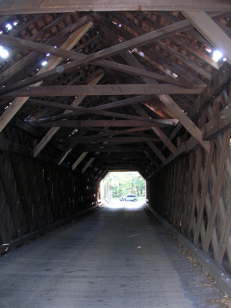 Trusses inside the bridge