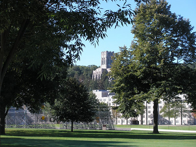 Cadet Chapel on the hill