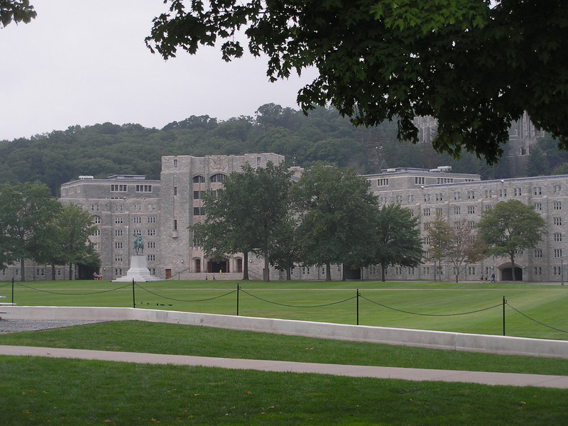 Cadet Barracks across Parade Field