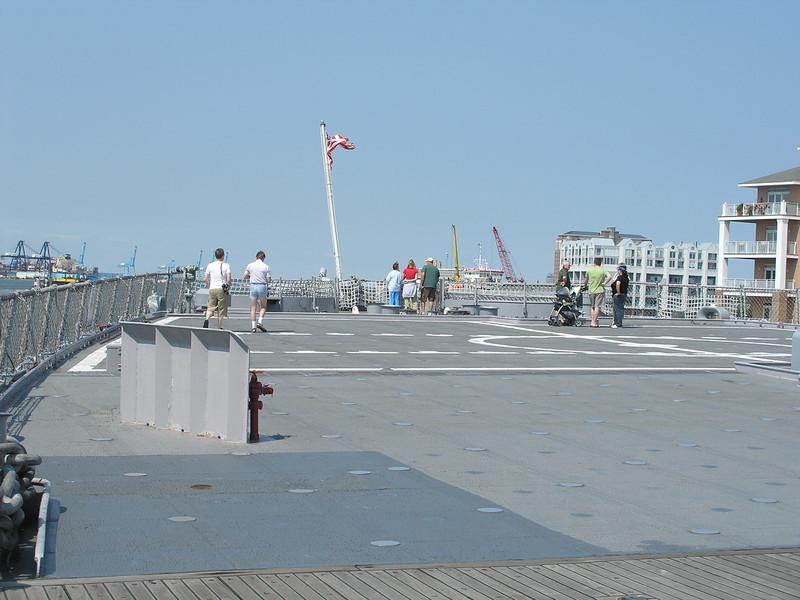 Deck of Battleship Wisconsin