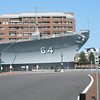 Battleship Wisconsin from street level