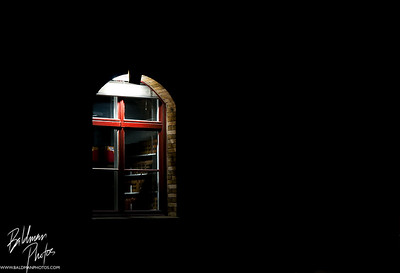 University window at night