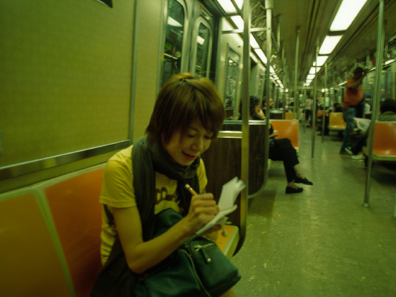 Sanae, Japanese girl I met on the Subway.