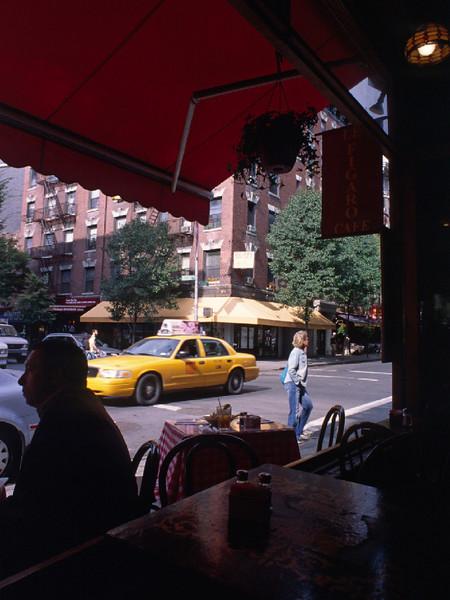 Cafe Figaro on Bleecker St.