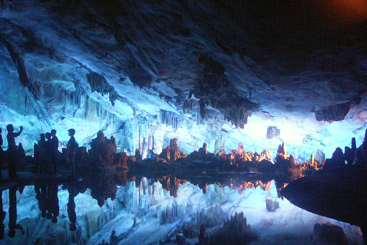 Guilin is also home to the Reed Flute Cave -a cavern with interesting rock formation and lit beautifully with neon lights.