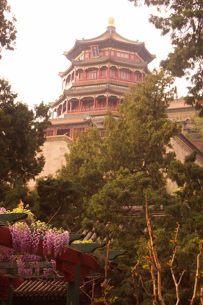 "This is the ""Tower of the Fragrance of the Buddha"" at the Emperor's Summer Palace outside of Beijing."