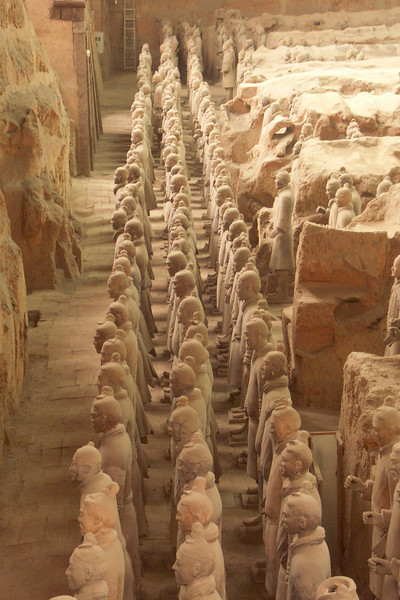 More views of the terracotta warriors.