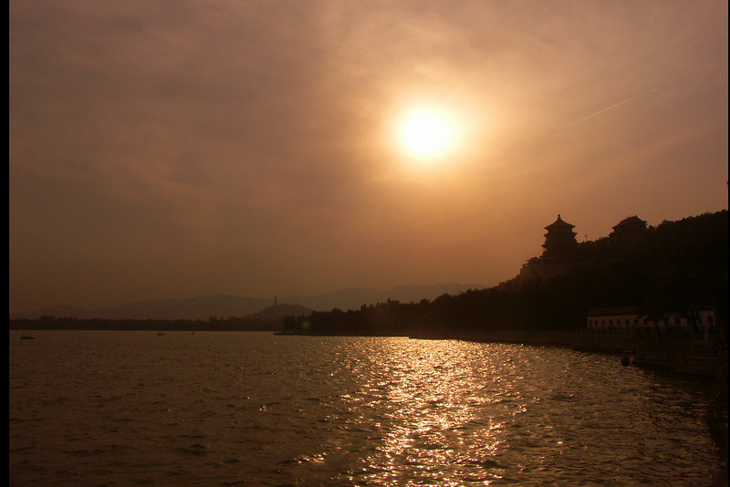 Okay, you have to give me one pseudo sunset (it was really just late afternoon and was purposely underexposed). This one was at the Summer Palace.