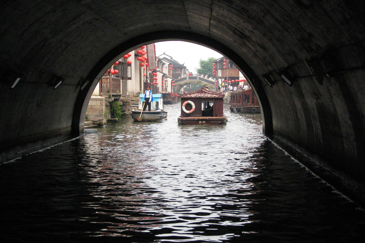 "The city of Suzhou (pronounced sue-joe) is just about 30 miles outside of Shanghai. The Chinese refer to it as the ""Venice of the East"" since there is a network of canals crisscrossing the town."