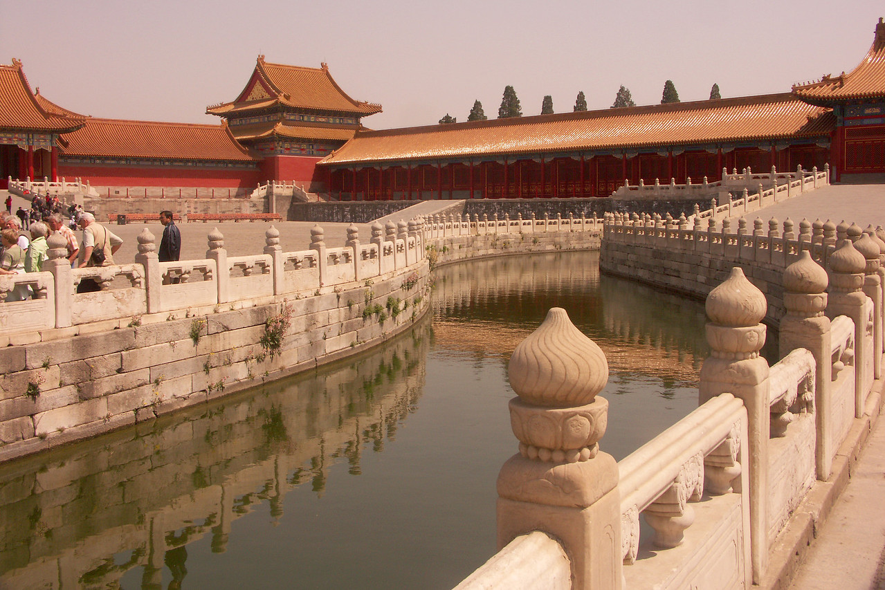 Canal inside the Forbidden City.