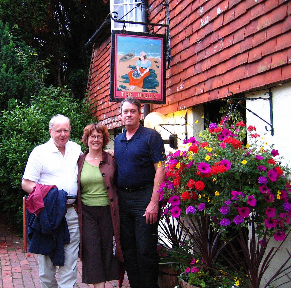 2007 Hiking in England - June <br /> Kingston nr lewes <br /> Paul, Mike radha & me
