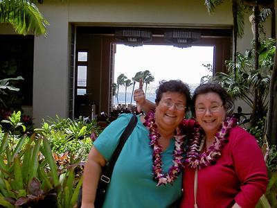 24 - Jo and Beth in the Hyatt lobby