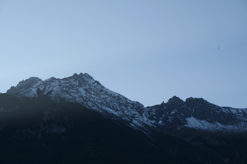 Saturday, May 19, Innsbruck, Austria<br /> The sun sets behind these mountains