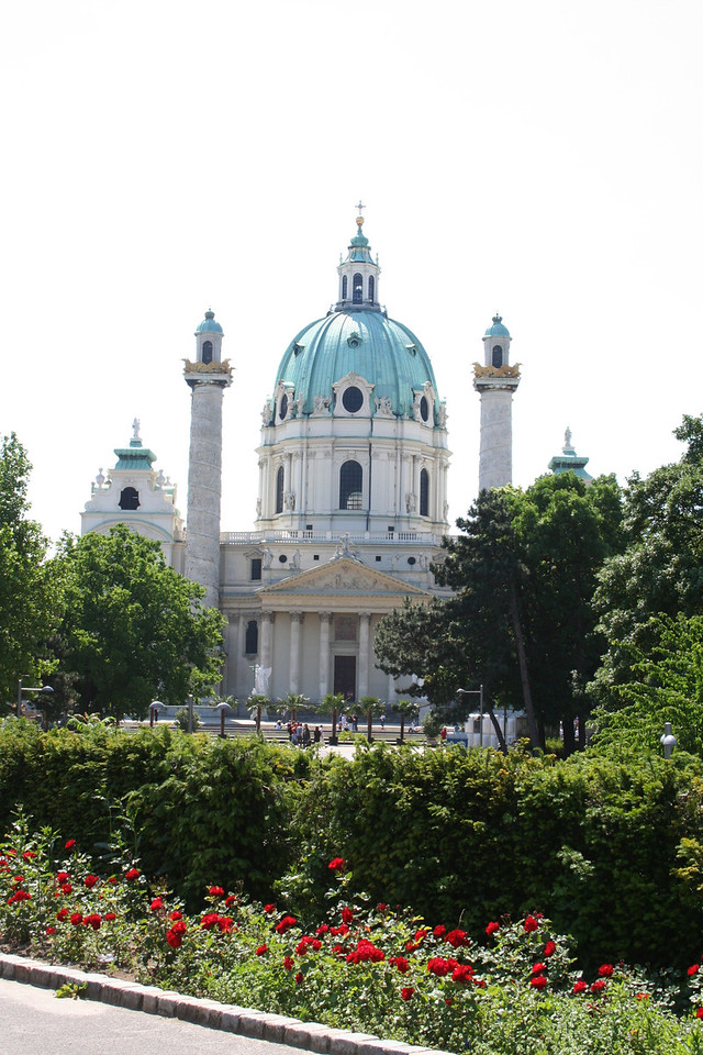 Saturday, May 19, Vienna, Austria<br /> KarlsKirche, biggest church in Vienna