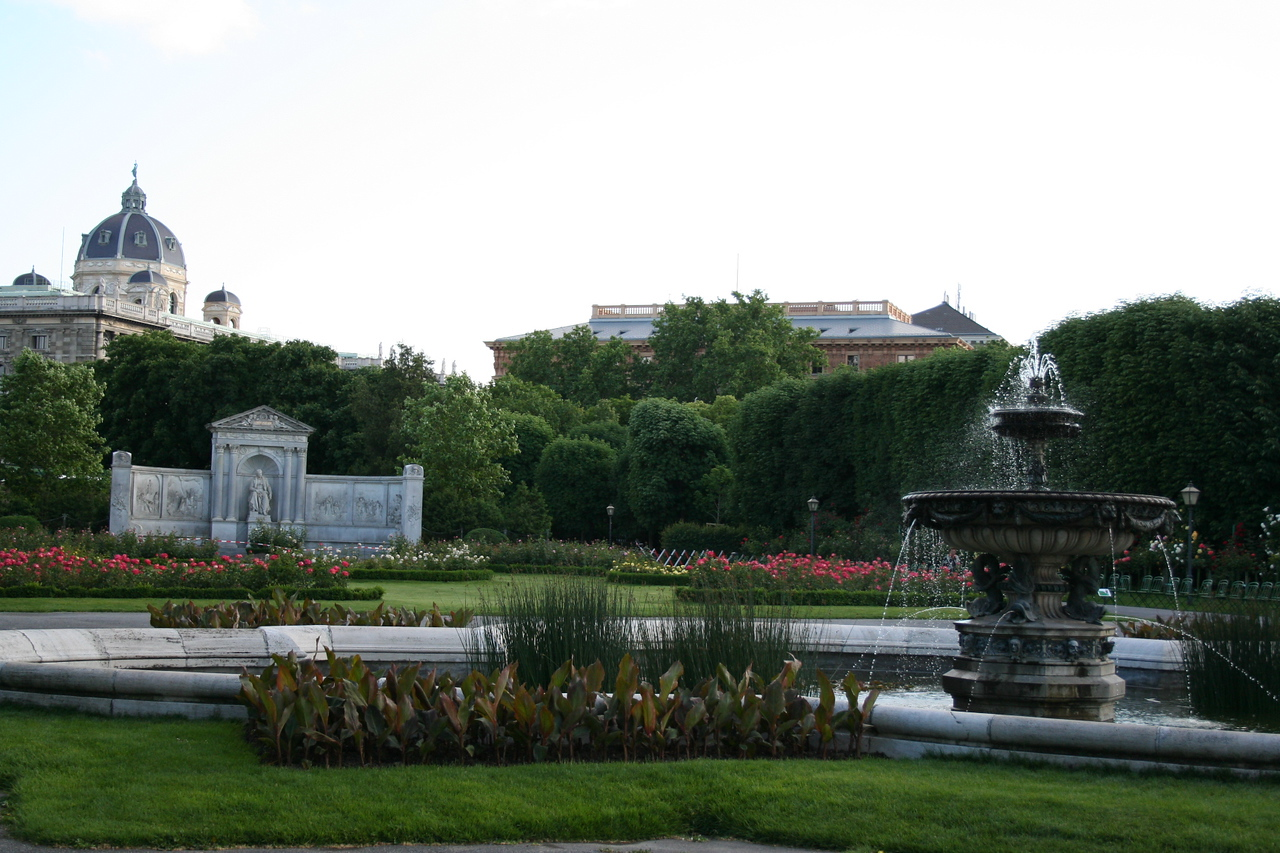 Friday, May 18, Vienna, Austria<br /> garden by the old palace;Volksgarden (People's garden)